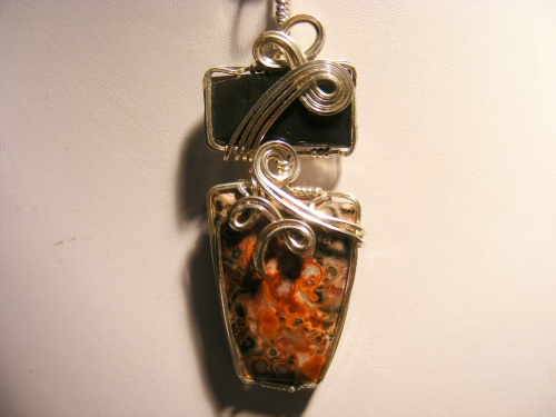 Silver Sheen Obsidian and Leopard Skin Jasper