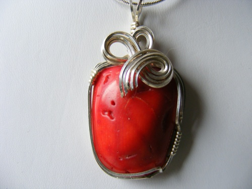 Bright red coral