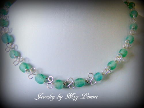 Green Seas Seaglass Jewelry Mig Lemire Wire Wrapping Chain