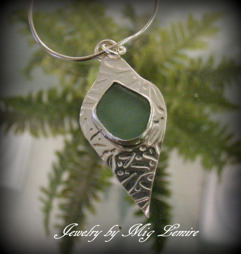 Seascape Seaglass Jewelry Mig Lemire Wire Wrapping Chain