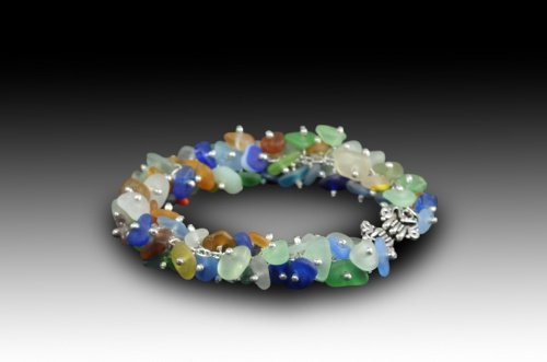 Oodles of rare authentic seaglass bracelet